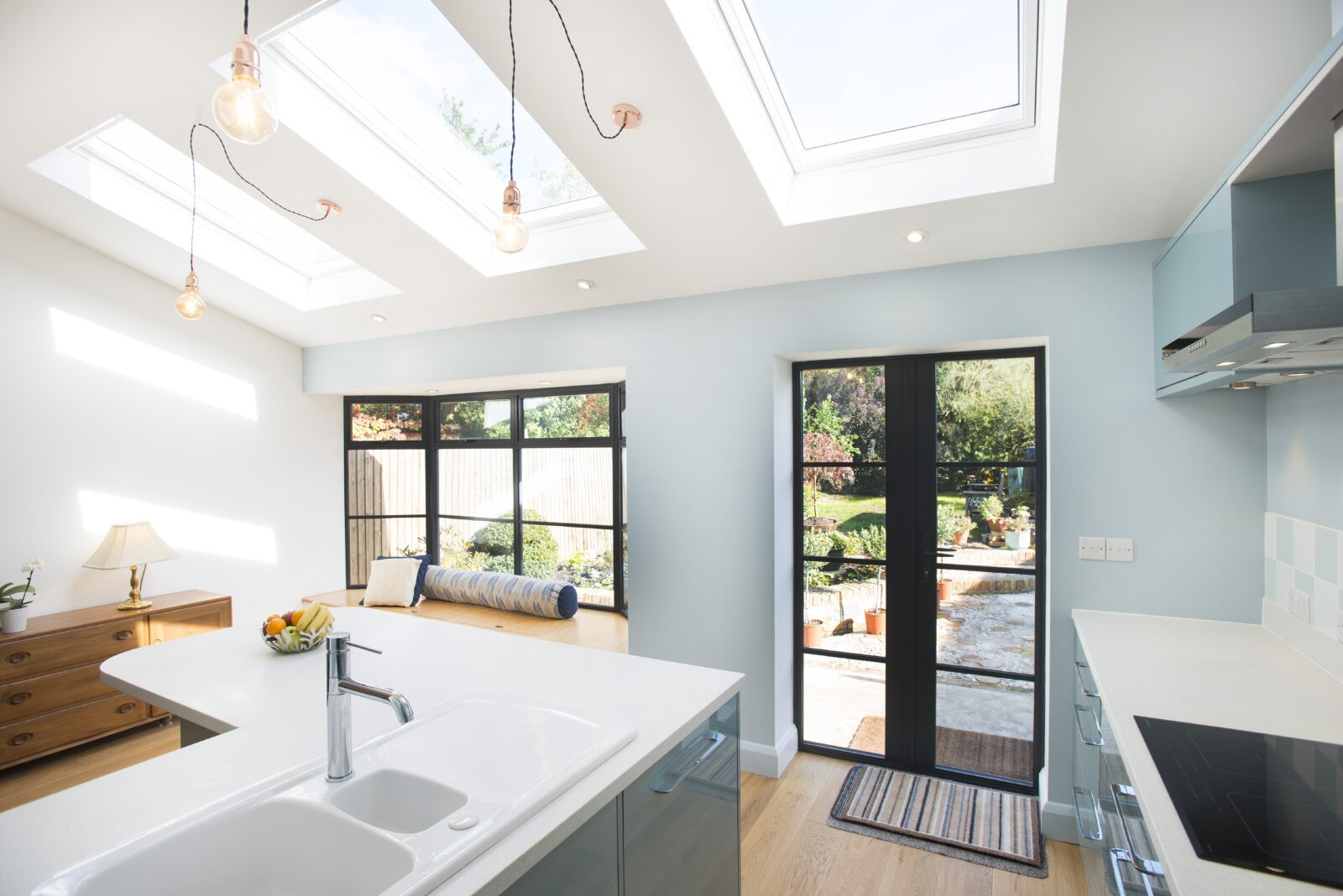 Kitchen Extensions With Velux Windows Flat Roof Vs Pitched Roof For Your Extension