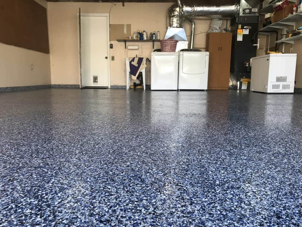 Garage Epoxy With Flakes Epoxy Flooring System Full Broadcast Vinyl Flake Built Right