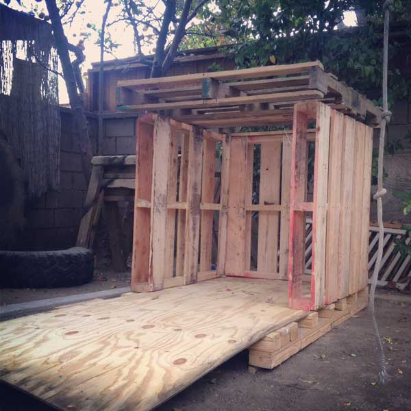 How We Built Our Pallet Playhouse