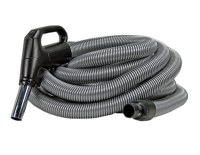 Silver and Black Low-Voltage Vacuum Hose for Beam