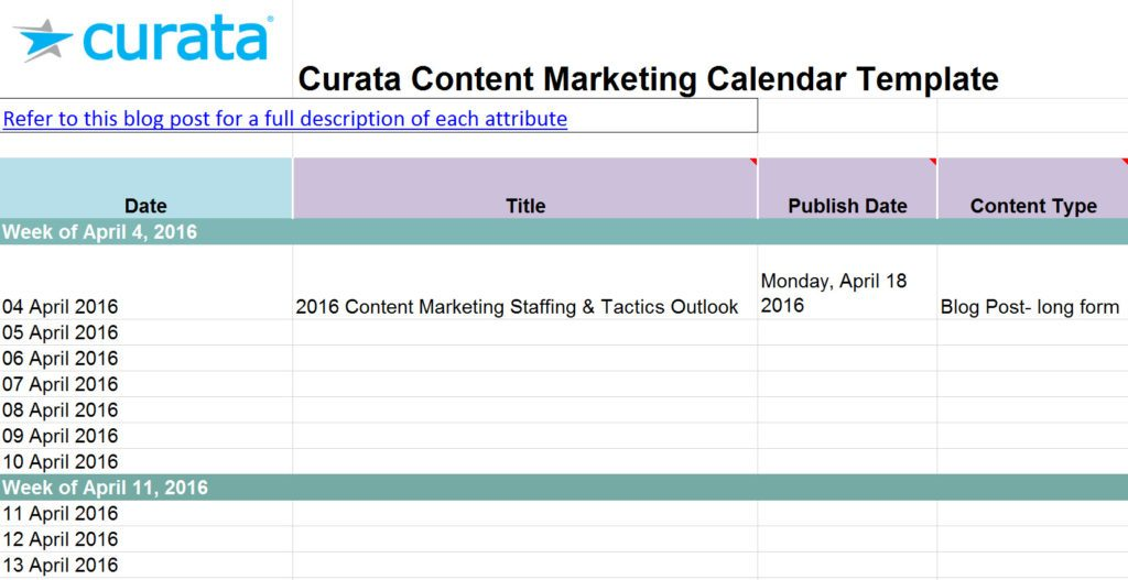 10 free content strategy  editorial calendar templates - Builtvisible