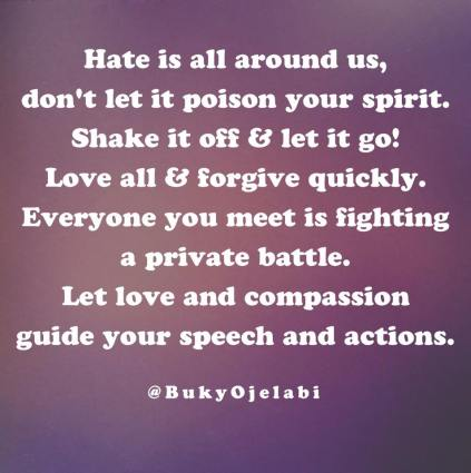 Love All & Forgive Quickly