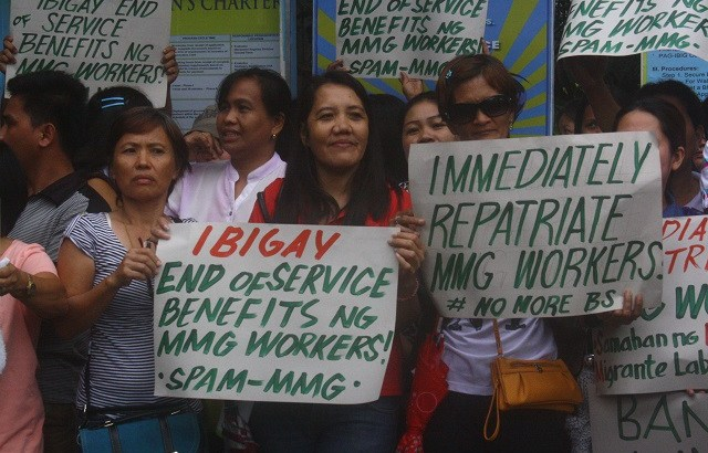 Kin of stranded OFWs call for their repatriation, ban on Saudi company