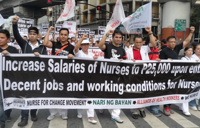 Nurses launch campaign for salary hike, regular jobs