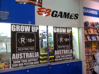EB Games in Australia pushing for R18+ classification