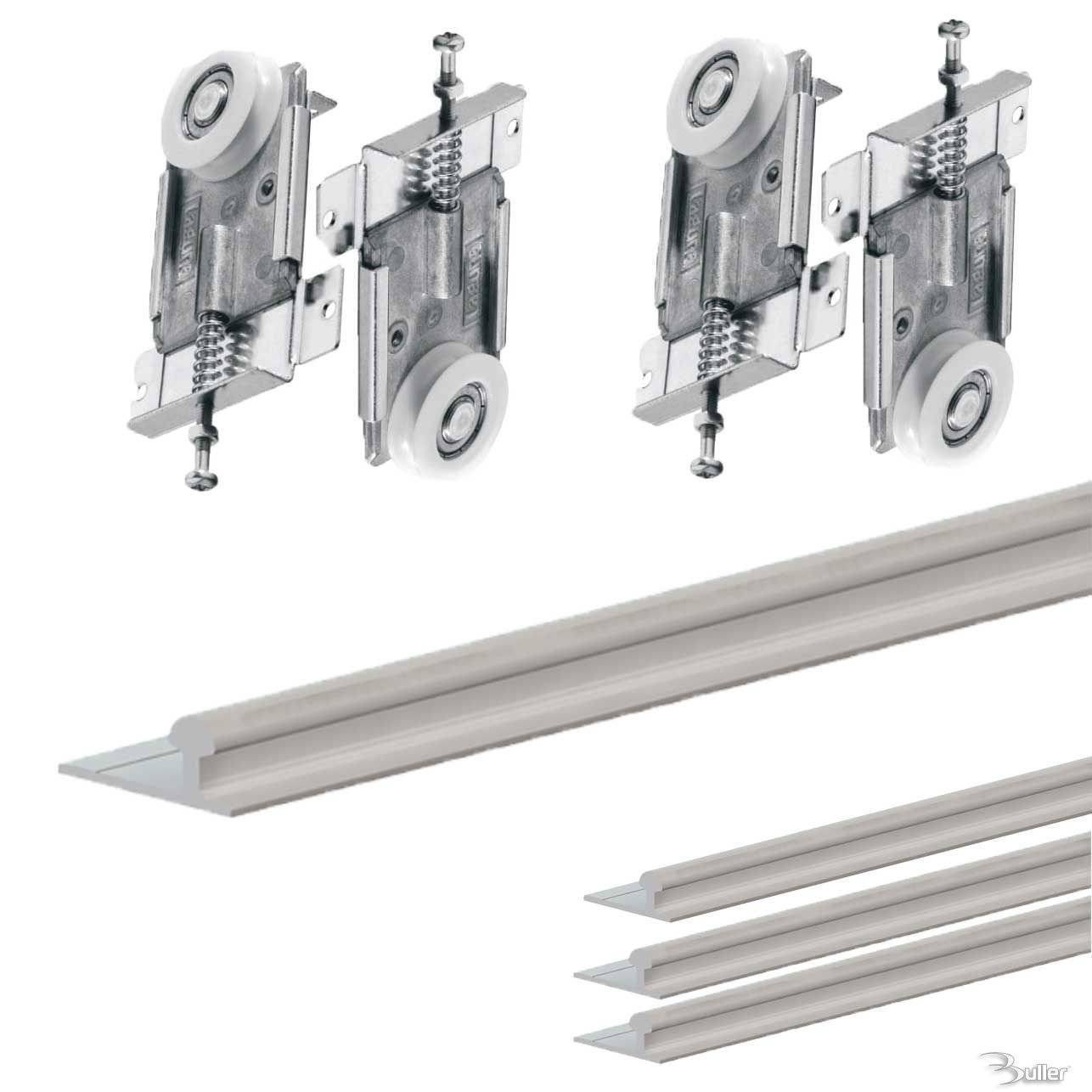 Wardrobe Kits Fastor Sliding Door Gear Wardrobe Track Kit System