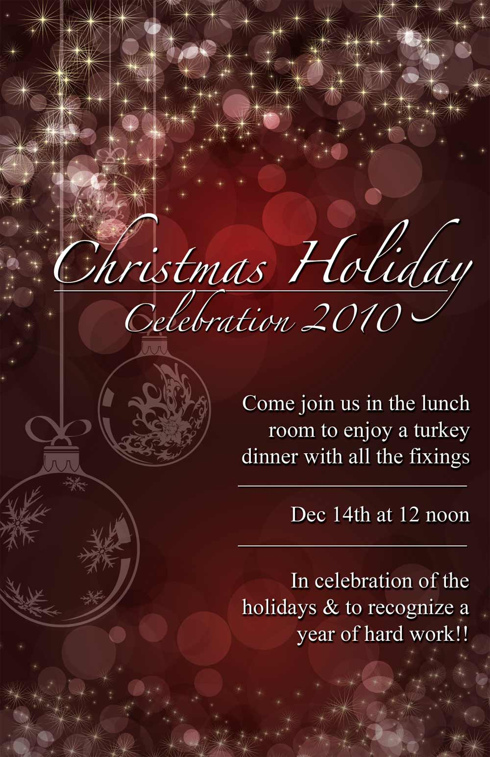 Free Home Designing Online Christmas Dinner Poster