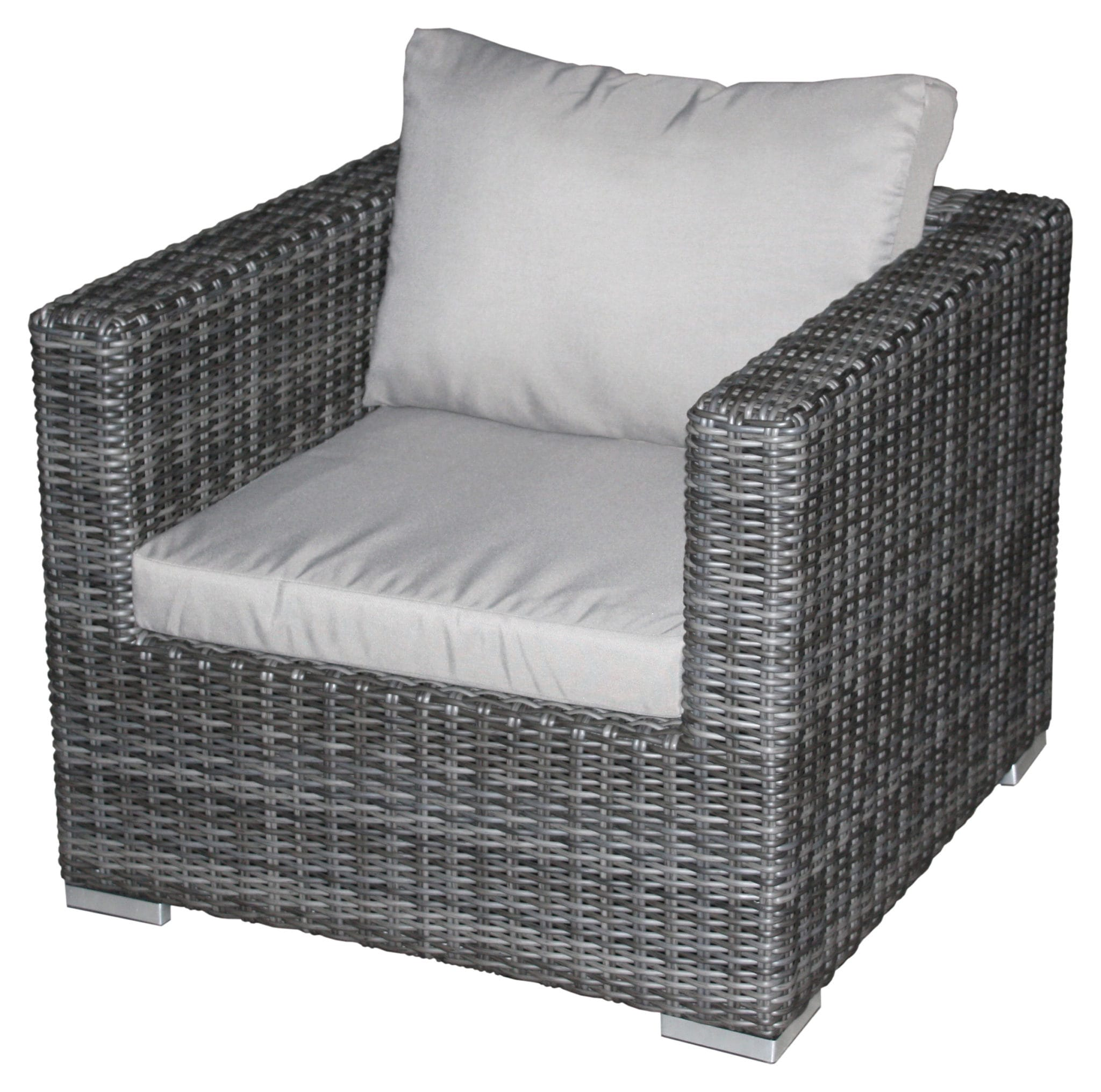 Zebra Gartenmöbel Sessel Zebra Polyrattan Jack Lounge Junior Basis Set