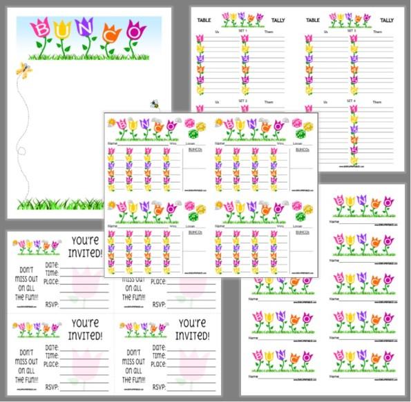 Welcome - Bunco Printables - bunco score sheets template