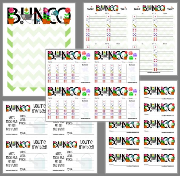 Welcome - Bunco Printables - bunco score sheets template
