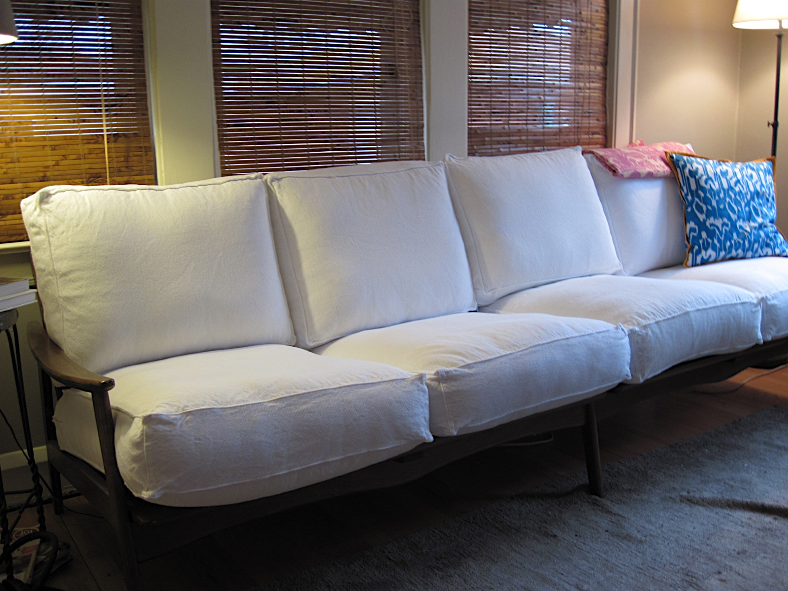 Ikea Lillberg Bettsofa Breathing New Life Into An Old Wood Frame Couch Bungalow Bungahigh