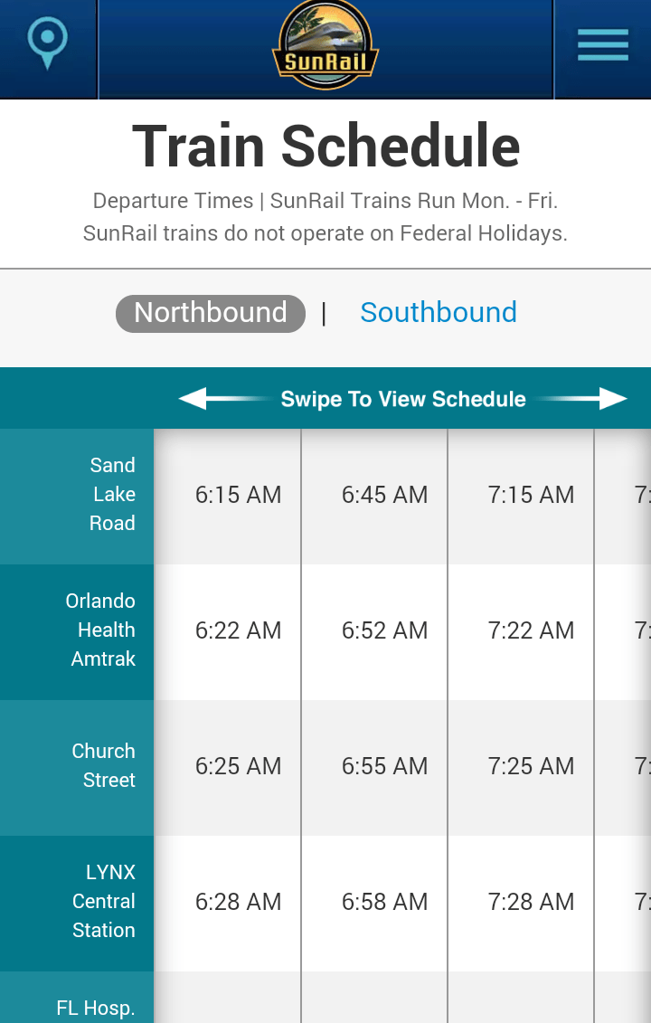 schedules real time trip planner
