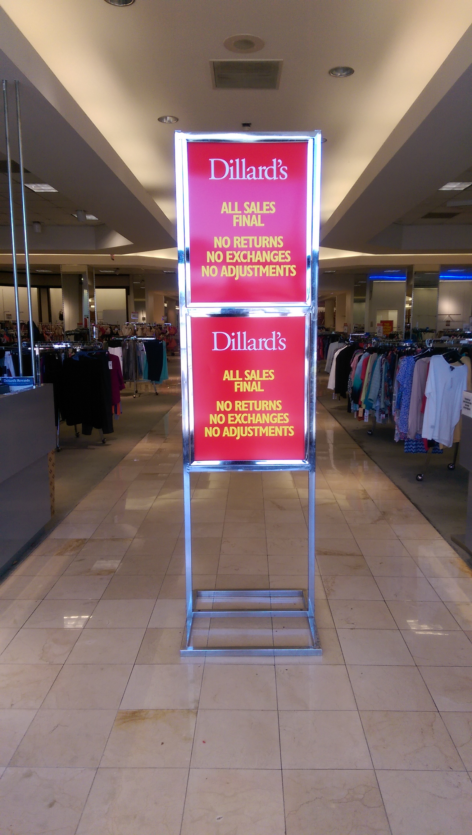 dillard s at fashion square mall be ing a clearance center   bungalower