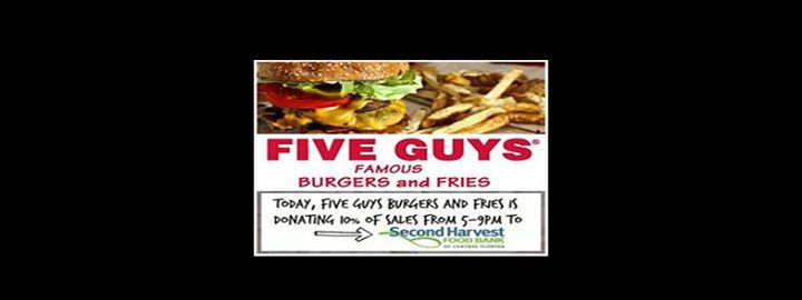 1st Monday At Five Guys Burgers And Fries Bungalower