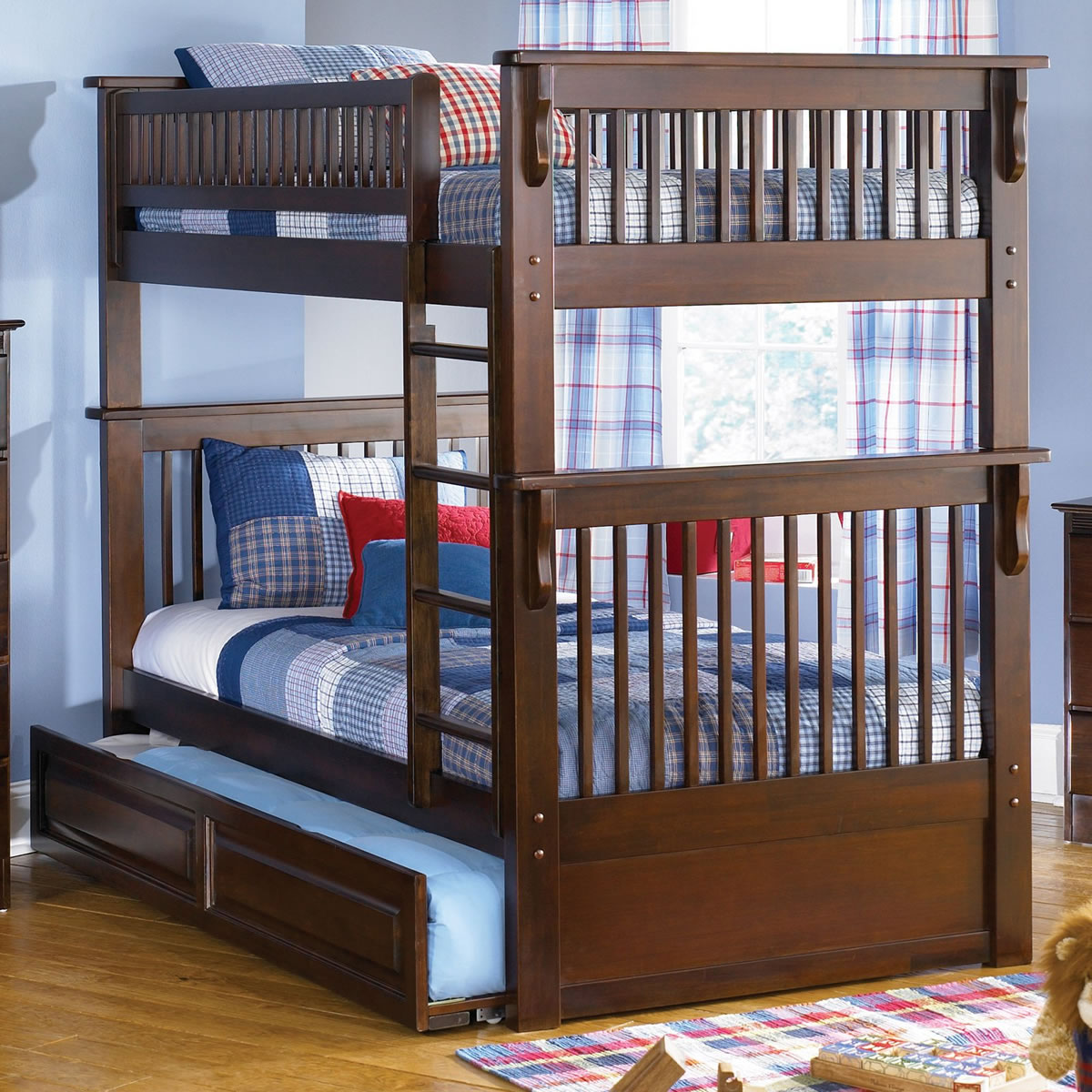 Twin Loft Bed Atlantic Furniture Colorado Twin Over Twin Bunk Bed