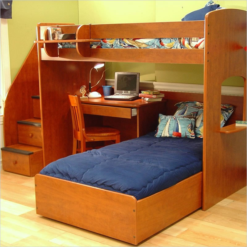 Twin Loft Bed Berg Furniture Utica Twin Over Twin Loft Bed With Stairs