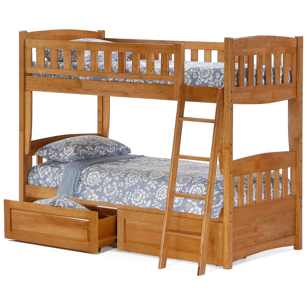 Bed Bunk Night And Day Cinnamon Twin Over Twin Bunk Bed