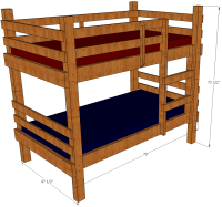 Bunk Bed Plans | Save Money And Space By Building Your Own ...