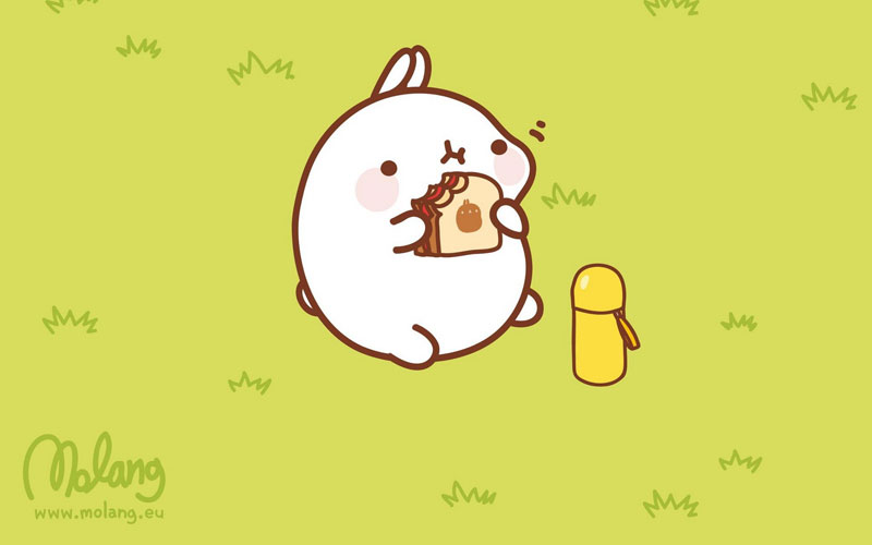 Very Cute Wallpapers For Desktop Monday Bunday Molang Bunny Eats Design