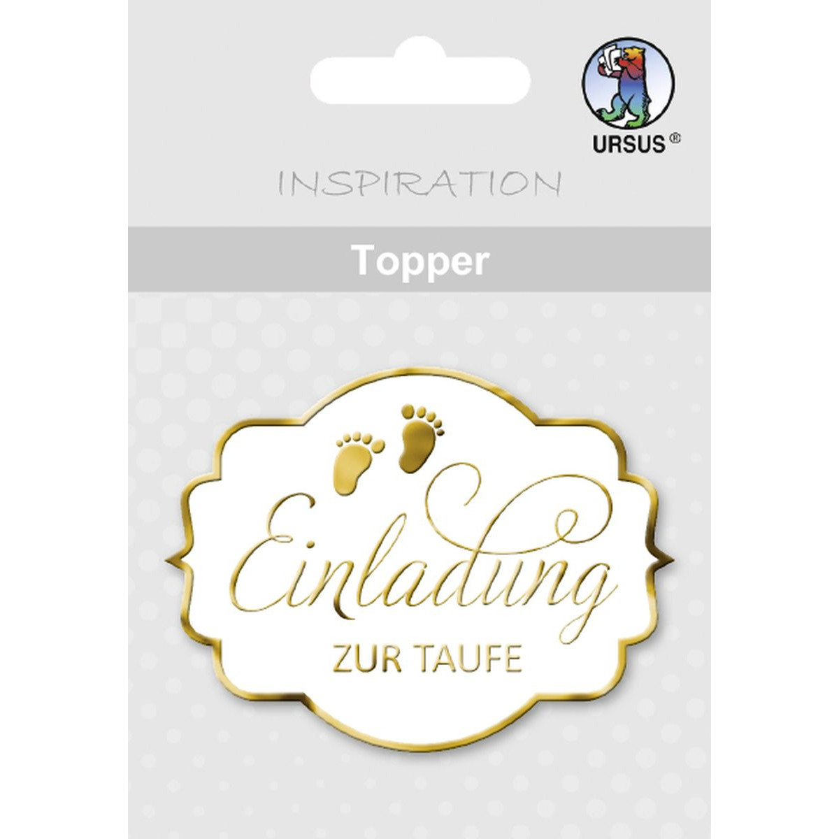Motive Taufe Topper Quoteinladung Zur Taufe Quot Weiß Gold Motiv 07