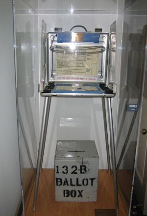 Consider visiting your local outdated ballot box when going home on weekends| photo courtesy of wikimedia commons