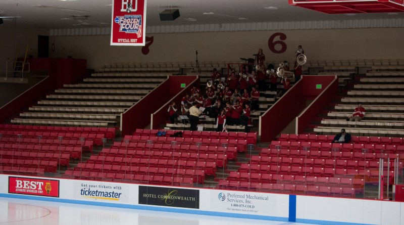 A nearly empty Walter Brown Arena just before a women's ice hockey game | Photo by Lisa Dukart