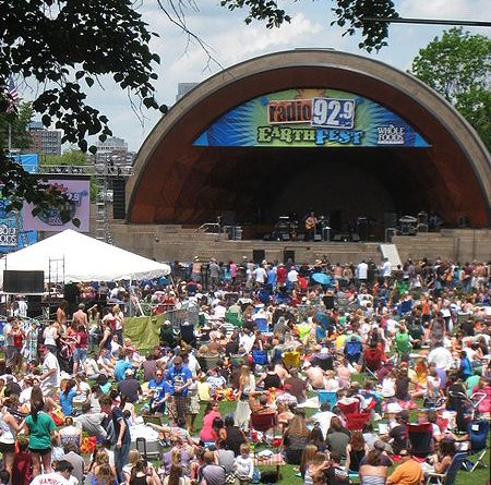 Last year's EarthFest in the Hatch Shell on the Esplanade | Photo by Wikimedia Commons user Daderot