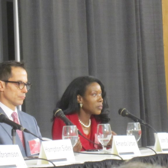 Amanda Urban, John Stauffer and Isabel Wilkerson speak at The Power of Narrative conference at Boston University | Photo by Heather Vandenengel