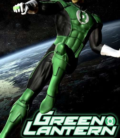 Muscle lantern-I mean, Green Lantern! Poster from Warner Bros. Studios