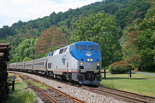 Amtrak is one of the many programs funded by the ground transportation bill. Photo from flickr user  jpmueller99.