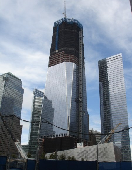 The Freedom Tower, as it stood in August of this year.