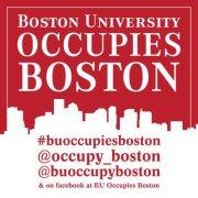 Occupy Boston Flyer Photo.