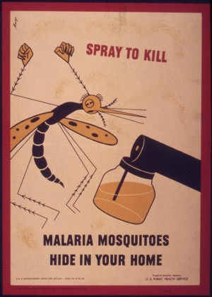Malaria Ad in WWII Era
