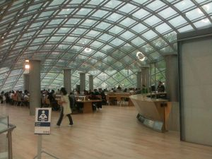 The Mansueto Library, though without a bookshelf in sight, is a beautiful place to ready or study.   Photo courtesy user Ragettho via Wikimedia Commons