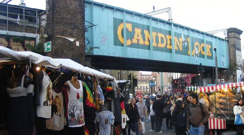 The Camden Lock Market. | Photo via Wikimedia Commons user Grim23.
