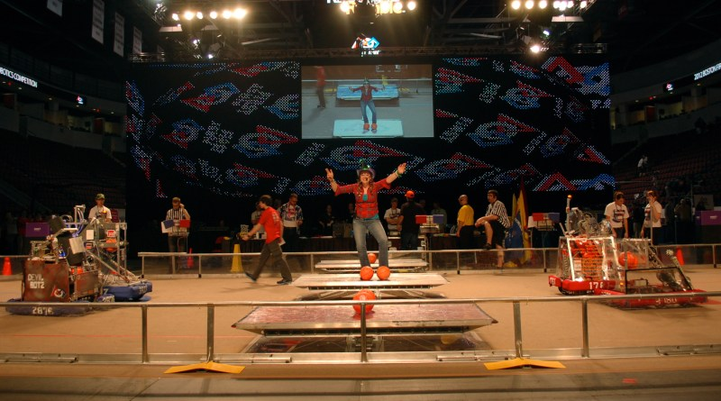 The arena was ready for battle as the hosts welcomed teams to the competition.