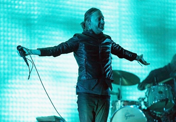 Radiohead's Thom Yorke at Coachella. | Photo courtesy of AP.