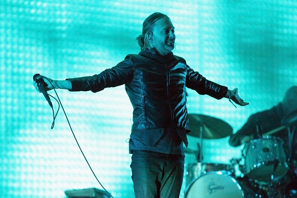 Radiohead's Thom Yorke at Coachella. | Photo courtesy of AP.