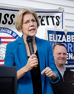 Elizabeth Warren at her campaign rally in Auburn, Mass. | Photo courtesy of user Twp via Wikimedia Commons