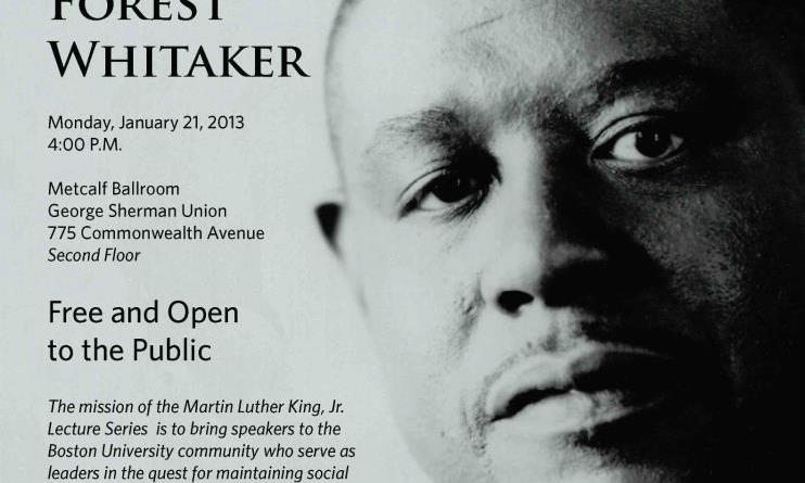 Forest Whitaker's lecture in BU's Metcalf Ballroom