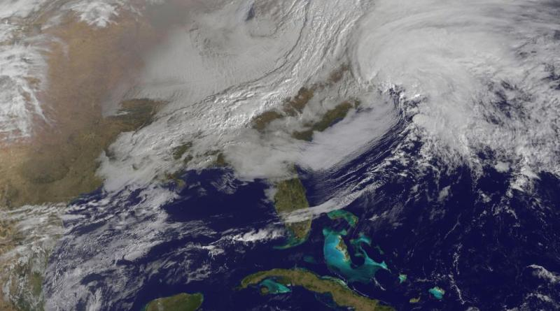 A satellite photo of the Blizzard Nemo.  |  Photo courtesy of NASA