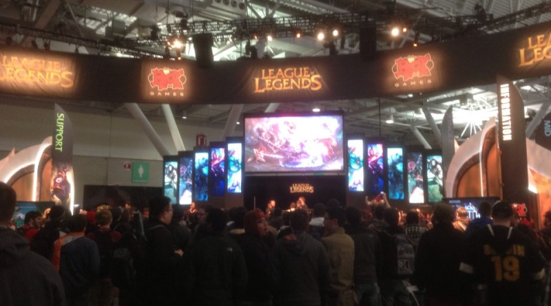 The League of Legends booth was packed for most of the convention - photo by Burk Smyth