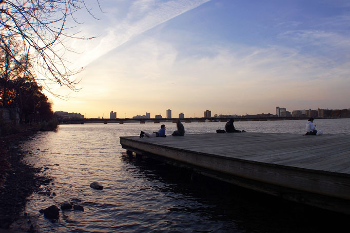 Docks along the Esplanade at sunset - Photo by Kara Korab