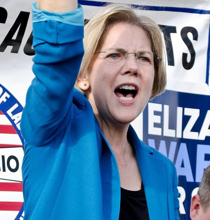 US Senator Elizabeth Warren is a well known academia-turned-legislator taking on banks with a liberal agenda.