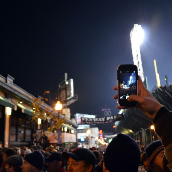 The air was thick with smartphones capturing the excitement.