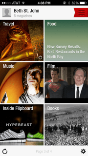 Search through different categories on your news feed to find articles in your interests.