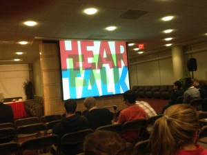 Students eagerly await the beginning of Rhett Talk lectures Monday evening. | Photo by Carly Sitrin