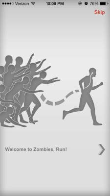 I would have preferred being chased by actual zombies over paying $3.99 for this app. | Screenshot by Grace Rasmus