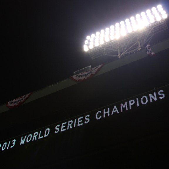The Red Sox won the World Series in four games to two against the St. Louis Cardinals