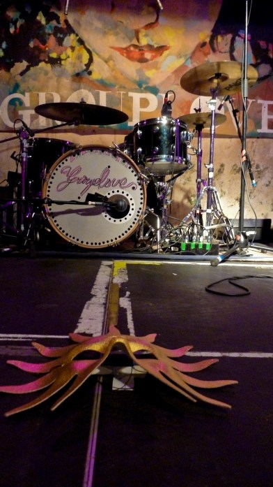 GROUPLOVE stage setup at a show in London
